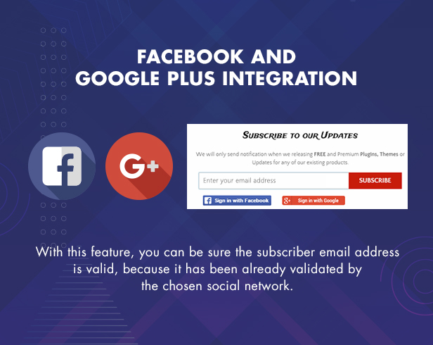 Social Signup, Facebook and Google Plus combined with MailChimp integration
