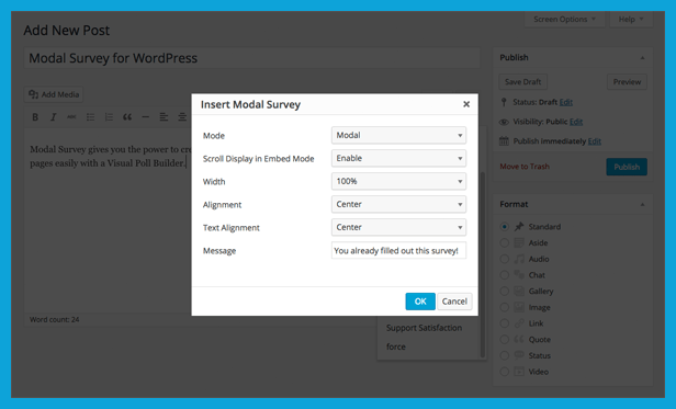 Implementing the WordPress Questionnaire with the Shortcode Manager