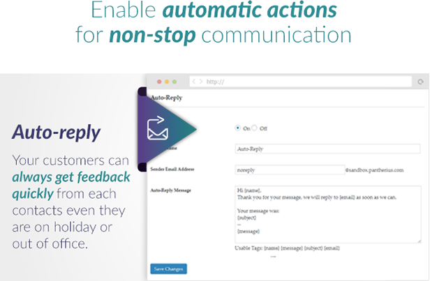 Slide Out Contact Form Auto-Reply
