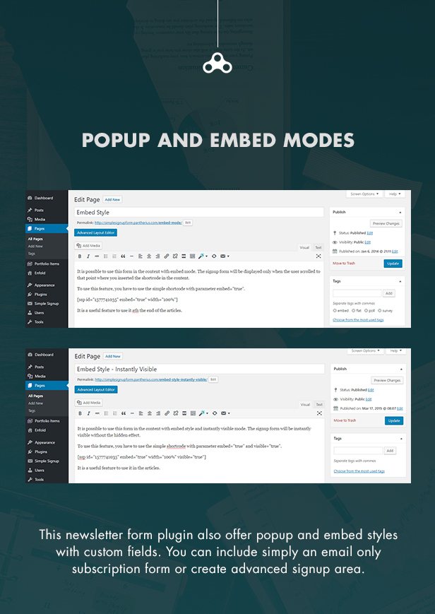 Popup and Embed MailChimp Signup Forms